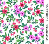 cute floral pattern in the... | Shutterstock .eps vector #1028613703