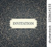 wedding invitation template.... | Shutterstock .eps vector #1028614153