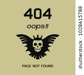 error 404 oops page not found.... | Shutterstock .eps vector #1028615788