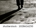 Man Walking With Bare Feet...