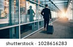 rear view of young businessman... | Shutterstock . vector #1028616283