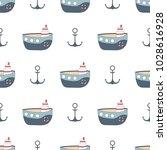 navy vector seamless patterns....   Shutterstock .eps vector #1028616928
