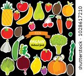 vector vegetables and fruits...   Shutterstock .eps vector #1028617210
