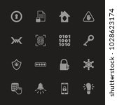 safety icons   gray symbol on...   Shutterstock .eps vector #1028623174