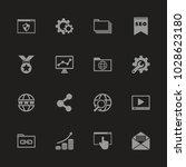 seo icons   gray symbol on... | Shutterstock .eps vector #1028623180