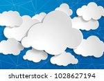 tranquil illustration of white... | Shutterstock .eps vector #1028627194