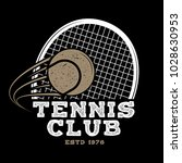 tennis club badge. vector... | Shutterstock .eps vector #1028630953