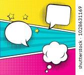 retro comic empty speech... | Shutterstock .eps vector #1028631169
