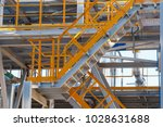 a small chemical plant with all ... | Shutterstock . vector #1028631688