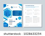 annual report  broshure  flyer  ... | Shutterstock .eps vector #1028633254