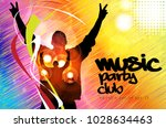 music event party  background... | Shutterstock .eps vector #1028634463