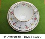 fine bone china vintage teacup  ... | Shutterstock . vector #1028641390
