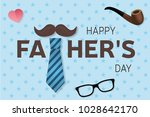 happy father's day greeting... | Shutterstock .eps vector #1028642170