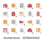 stylized business and office... | Shutterstock .eps vector #1028643463