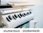 close up focus barbeque steel... | Shutterstock . vector #1028644630