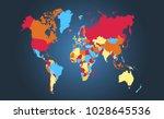 color world map vector | Shutterstock .eps vector #1028645536