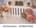 flowers in the interior and... | Shutterstock . vector #1028645560