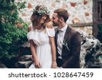 very beautiful wedding of... | Shutterstock . vector #1028647459