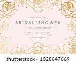bridal shower invitation... | Shutterstock .eps vector #1028647669