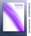 brochure purple cover template... | Shutterstock .eps vector #1028648614