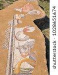 ancient ruins of great baths ...   Shutterstock . vector #1028651674