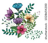 floral decoration vintage style | Shutterstock .eps vector #1028654200