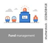 fund management  return on... | Shutterstock .eps vector #1028658418