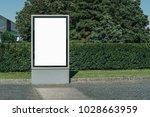 vertical blank glowing... | Shutterstock . vector #1028663959