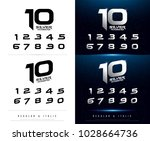 technology number alphabet... | Shutterstock .eps vector #1028664736