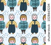 seamless pattern with cute... | Shutterstock .eps vector #1028665234
