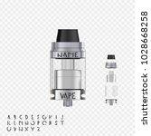 vape realistic atomizer.... | Shutterstock .eps vector #1028668258