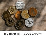 family of cryptocurrency. stack ... | Shutterstock . vector #1028670949