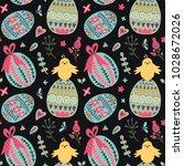 seamless spring vector pattern... | Shutterstock .eps vector #1028672026