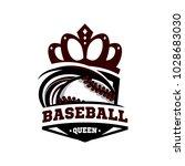 baseball queen logo vector   Shutterstock .eps vector #1028683030