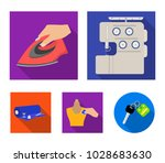 electric sewing machine  iron... | Shutterstock .eps vector #1028683630