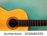 Acoustic Classic Guitar On Blu...
