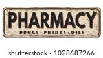 pharmacy vintage rusty metal... | Shutterstock .eps vector #1028687266