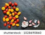 assorted red  dark  yellow and... | Shutterstock . vector #1028690860
