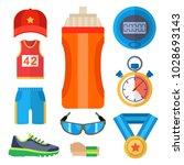 fashion dressing run sport... | Shutterstock .eps vector #1028693143