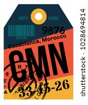 casablanca airport luggage tag. ...   Shutterstock .eps vector #1028694814