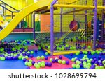 large children's playroom with... | Shutterstock . vector #1028699794
