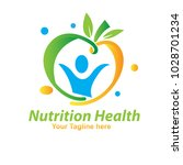 nutrition fruit logo | Shutterstock .eps vector #1028701234