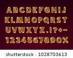 font golden glass symbol  gold... | Shutterstock .eps vector #1028703613