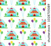 circus show entertainment tent... | Shutterstock .eps vector #1028705089