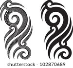 maori styled tattoo pattern... | Shutterstock .eps vector #102870689