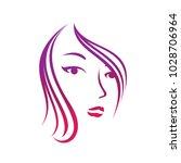 beauty salon and hair cut logo... | Shutterstock .eps vector #1028706964