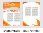 magazine cover abstract style... | Shutterstock .eps vector #1028708980