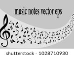 musical symbols with musical... | Shutterstock .eps vector #1028710930