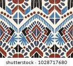ikat geometric folklore... | Shutterstock .eps vector #1028717680