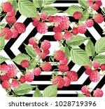 goji berries guarana seamless... | Shutterstock .eps vector #1028719396
